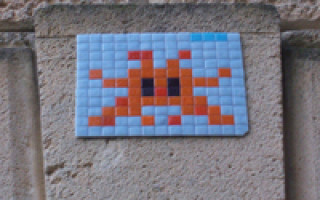 Where did those space invaders mosaics around Perth come from?