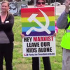 Extreme right wing protesters make hilarious sign error