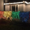 Woman trolls homophobic neighbour with rainbow Christmas decorations