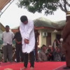 Two Indonesian men flogged in public for gay sex