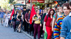 Large Crowd Marches For Marriage Equality