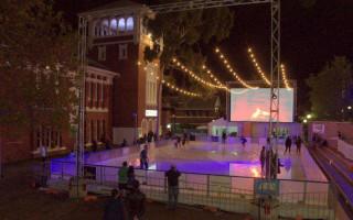 Rainbow ice skating celebrates US marriage decision