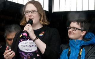 Love in Perth rally: Rev Fr Peter Manuel & Samantha Davies