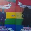 Marriage equality mural vandalised