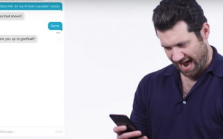 Billy Eichner helps a stranger up their Tinder game