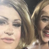 Feminem performs on stage with Adele at her Perth concert