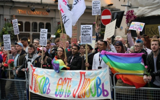 Hundreds protest Chechnya's gay purge in London