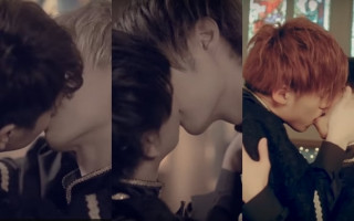 Japanese boy band pash-on in new kiss filled video