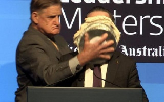 Alan Joyce copped pie in his face over his support for marriage equality