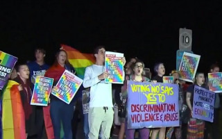Confrontational protests over Safe Schools at Brisbane Church