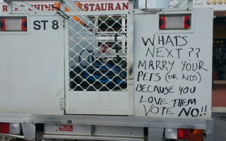 Sign in Perth claims marriage equality will lead to incest and bestiality