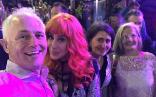 Cher responds to fans concerned over Malcolm Turnbull selfie