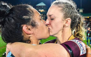 NRL tells followers upset by same sex kiss to get with the times