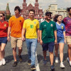 Protesters find a clever way to display the rainbow flag at the World Cup