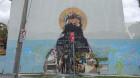 Man who vandalised 'Saint George Michael' mural found guilty