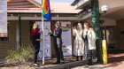 Local hospitals support IDAHoBIT Day with flag raising ceremony