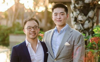 Li Huanwu, the grandson of Lee Kuan Yew, weds his partner