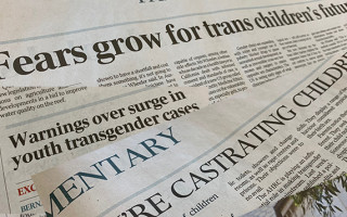 'The Australian' wins the Golden GLORIA for transphobic news coverage