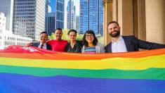 The rainbow flag flies over Sydney as Mardi Gras begins
