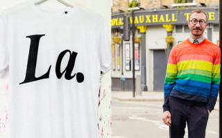 Philip Normal raises thousands of pounds for HIV charity with 'La' t-shirt