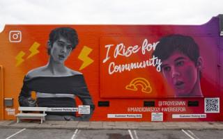 Around Australia street art murals are celebrating Mardi Gras