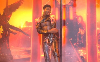 Oops! Lil Nas X has a wardrobe malfunction on SNL