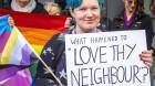 Australian Christian Lobby met by protesters in Tasmania