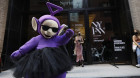 Style icon Tinky Winky spotted at New York's Fashion Week