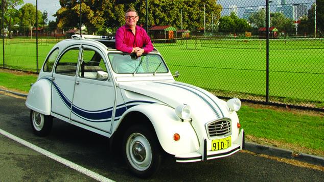 Stuart Pekin and his 1984 Citroen 2CV