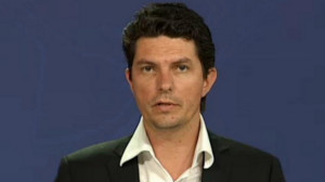 Senator Scott Ludlum at a press conference earlier today.