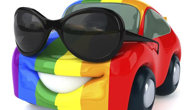 Rainbow Car