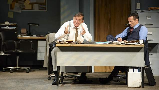 096 Peter Rowsthorn, Damian Walshe-Howling. Glengarry Glen Ross. Image by Gary Marsh Photography