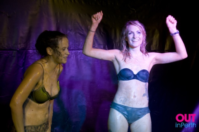 Lesbians wrestling