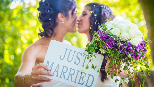 Married wedding lesbian gay