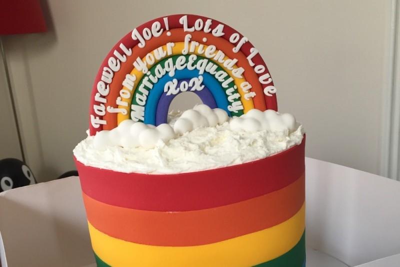 joe bullock farewell cake